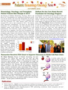 Heme Onc Newsletter October 2015