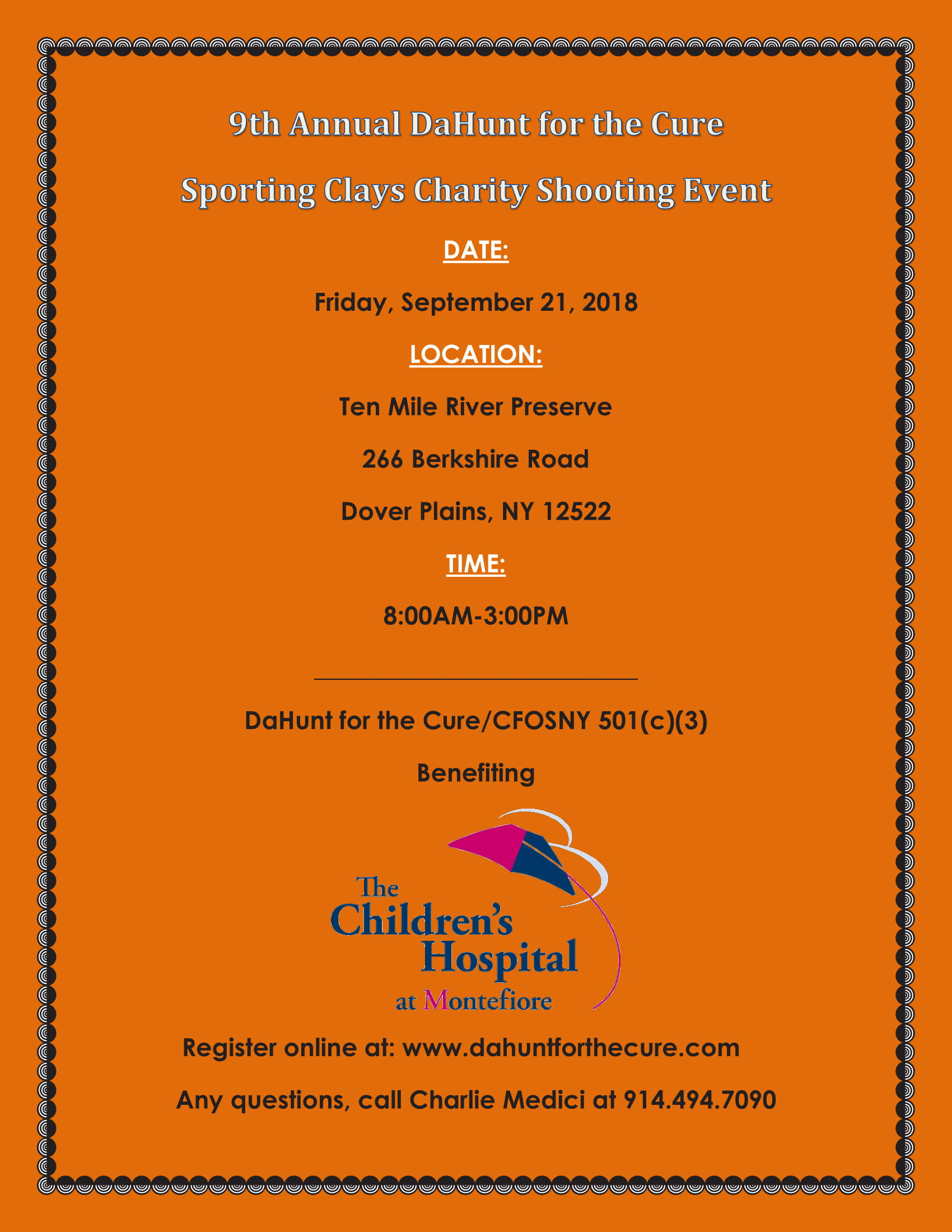 2018 DaHunt for the 9th Annual Sporting Clays Charity Shooting Event